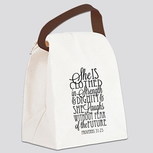 Clothed in Strength Dignity Canvas Lunch Bag