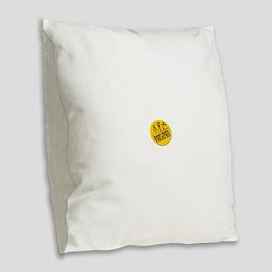DAT logo Burlap Throw Pillow