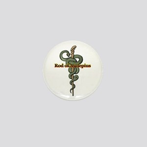 Rod of Asclepius Mini Button
