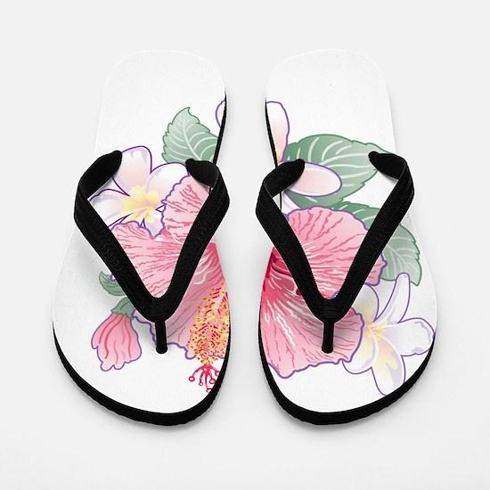 Hibiscus Band Flip Flops