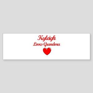 Kyleigh Loves Grandma Bumper Sticker