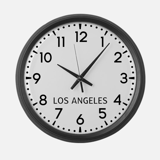 Los Angeles Newsroom Large Wall Clock