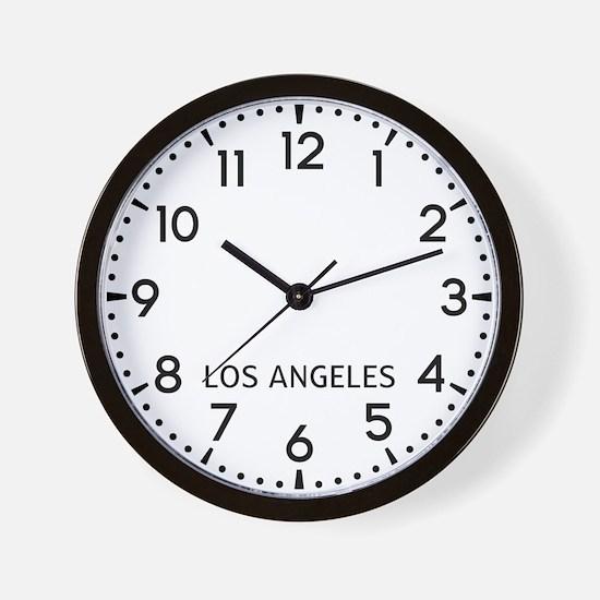 Los Angeles Newsroom Wall Clock