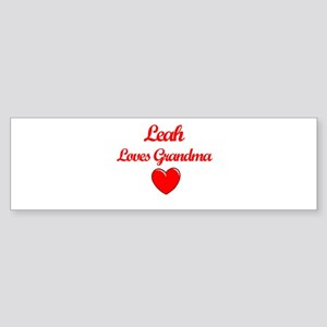 Leah Loves Grandma Bumper Sticker