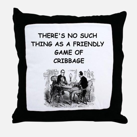 CRIBBAGE11 Throw Pillow