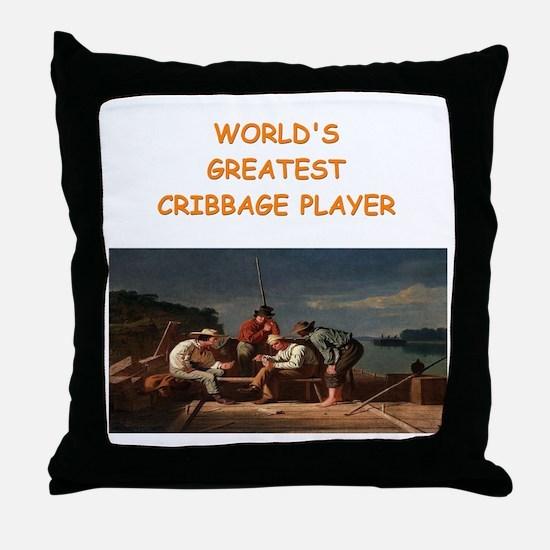 CRIBBAGE10 Throw Pillow