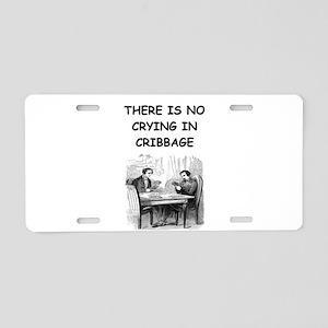 CRIBBAGE6 Aluminum License Plate