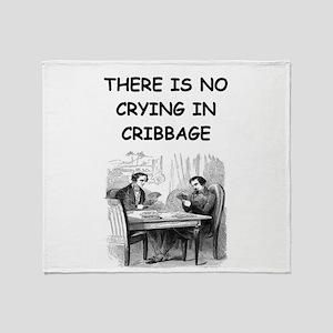 CRIBBAGE6 Throw Blanket