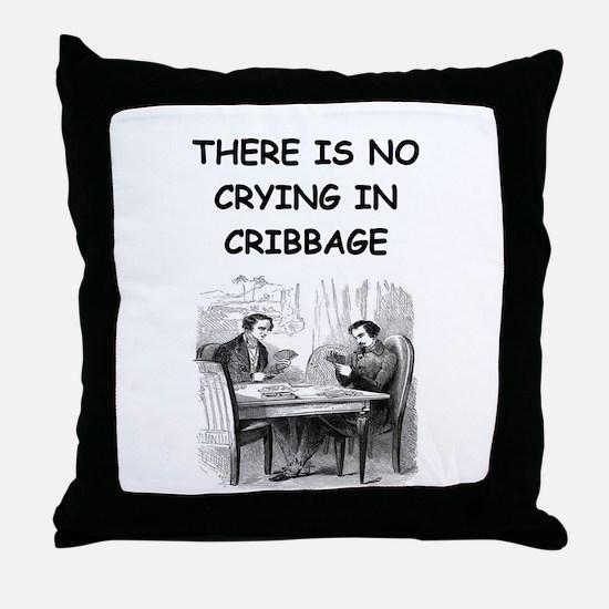 CRIBBAGE6 Throw Pillow