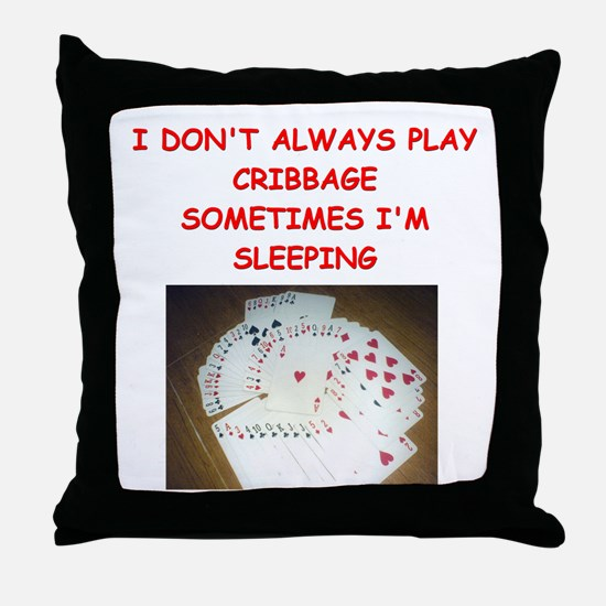 CRIBBAGE4 Throw Pillow