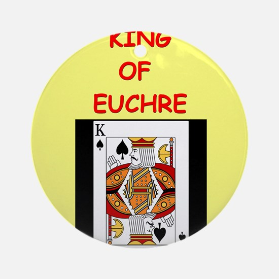EUCHRE13 Ornament (Round)