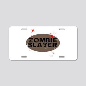 Zombie Slayer Aluminum License Plate