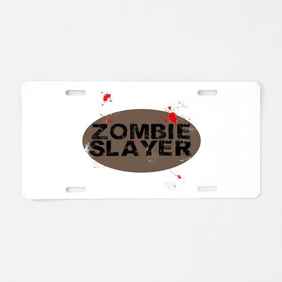 Zombie Slayer Aluminum License Plate