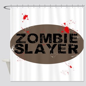 Zombie Slayer Shower Curtain