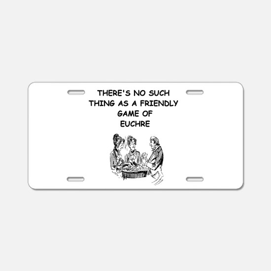 EUCHRE9 Aluminum License Plate