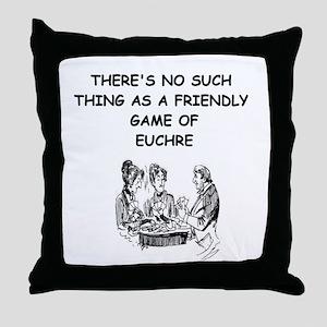 EUCHRE9 Throw Pillow