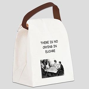 EUCHRE6 Canvas Lunch Bag