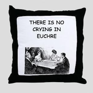 EUCHRE6 Throw Pillow