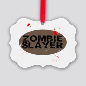 Zombie Slayers Picture Ornament
