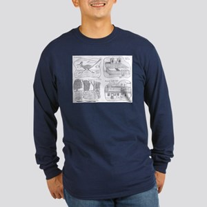 New Mexico Quatrad Long Sleeve Dark T-Shirt