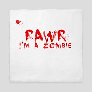 RAWR Im a Zombie Queen Duvet