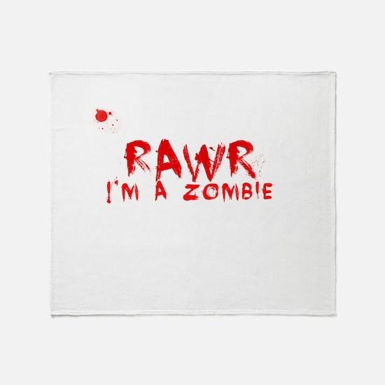 RAWR Im a Zombie Throw Blanket