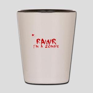 RAWR Im a Zombie Shot Glass