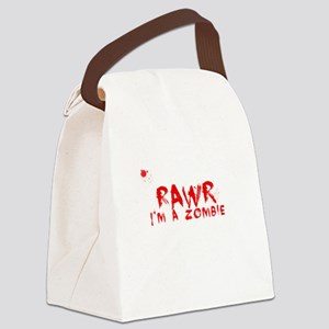 RAWR Im a Zombie Canvas Lunch Bag