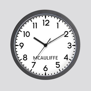 Mcauliffe Newsroom Wall Clock