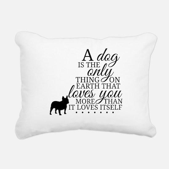 A Dog's Love Rectangular Canvas Pillow