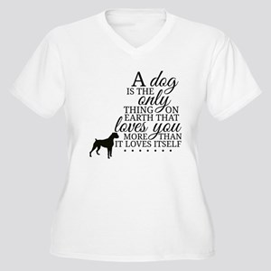 A Dog's Love Plus Size T-Shirt