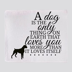 A Dog's Love Throw Blanket