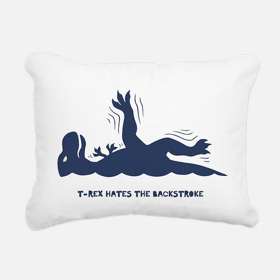 T-Rex Backstroke Rectangular Canvas Pillow