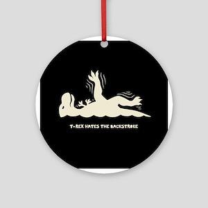 T-Rex Backstroke Ornament (Round)