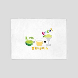 LIME + TEQUILA = RITA! 5'x7'Area Rug