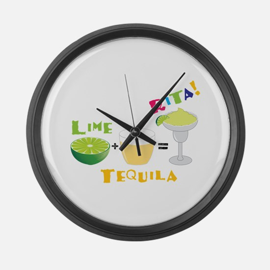 LIME + TEQUILA = RITA! Large Wall Clock
