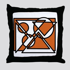 Triangles And Circles #6 (rust) Throw Pillow