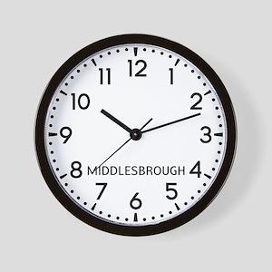 Middlesbrough Newsroom Wall Clock
