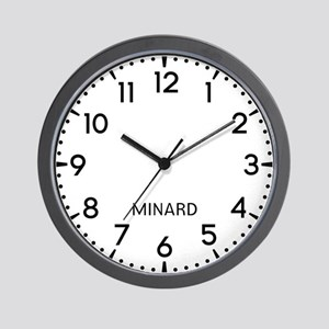 Minard Newsroom Wall Clock