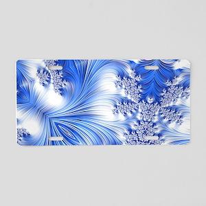 Special Fractal 17,blue Aluminum License Plate
