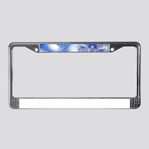 Special Fractal 17,blue License Plate Frame