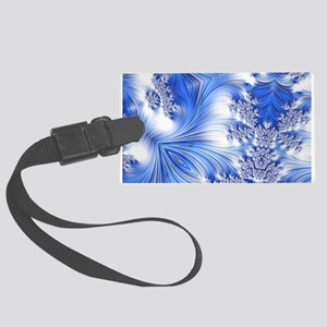 Special Fractal 17,blue Luggage Tag
