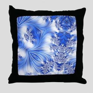 Special Fractal 17,blue Throw Pillow