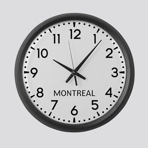 Montreal Newsroom Large Wall Clock