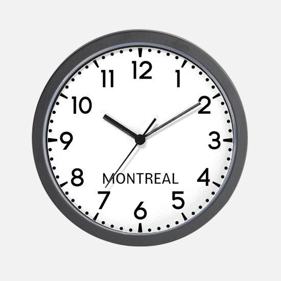 Montreal Newsroom Wall Clock