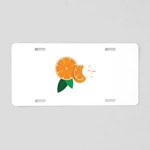 Oranges Aluminum License Plate