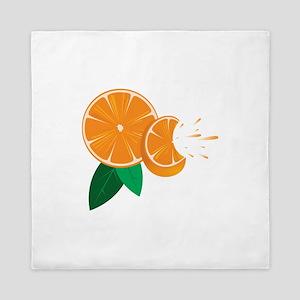 Oranges Queen Duvet