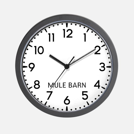 Mule Barn Newsroom Wall Clock