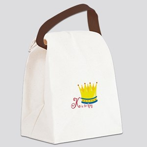 K is for king Canvas Lunch Bag