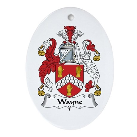 Wayne Oval Ornament